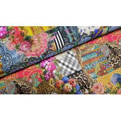 Jersey coton bio multicolore